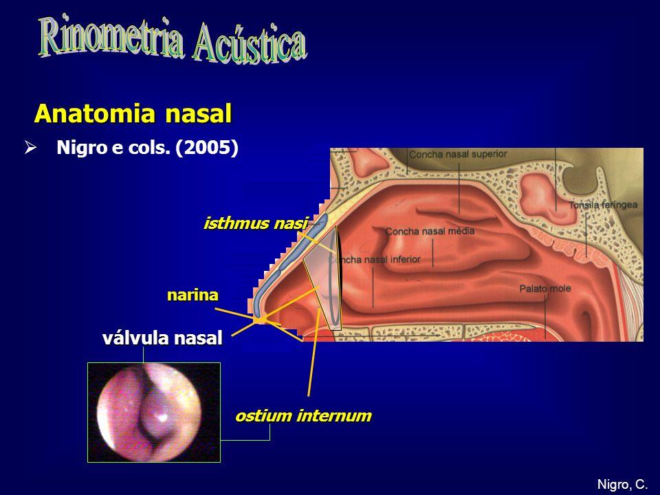 Nigro, C. narina válvula nasal Anatomia nasal ostium internum isthmus nasi Nigro e cols. (2005)
