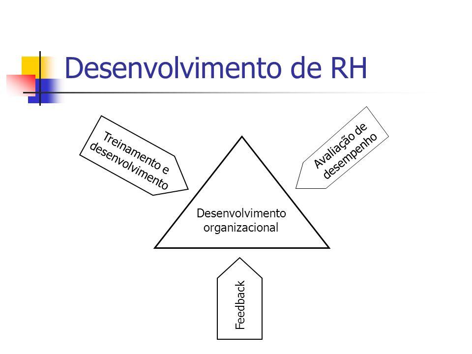 Desenvolvimento de RH Treinamento e desenvolvimento Feedback Desenvolvimento organizacional Avaliação de desempenho