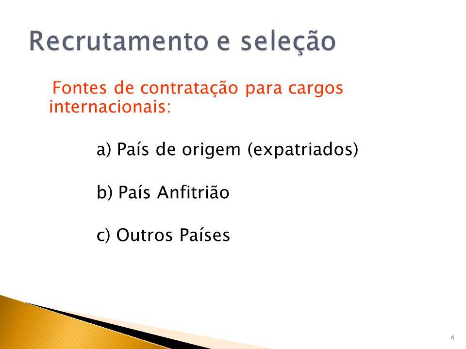 15 1) Entrevistas Candidato Família 2) Centros de Avaliação 3) Testes