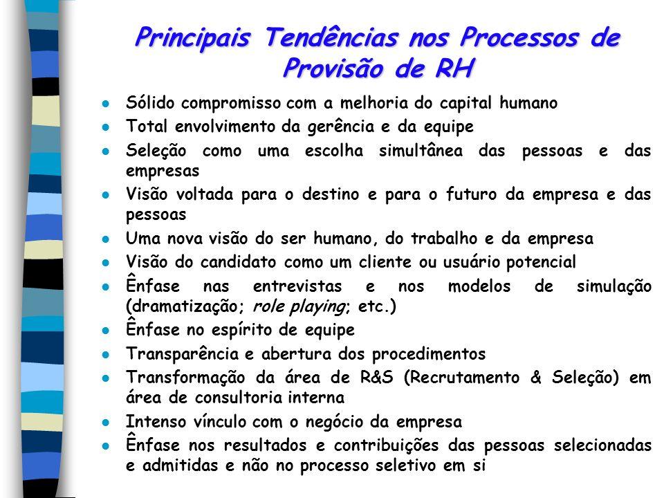 Avaliação dos Resultados da Seleção Os procedimentos de seleção podem ser combinados de diversas maneiras. O processo seletivo precisa ser eficiente e