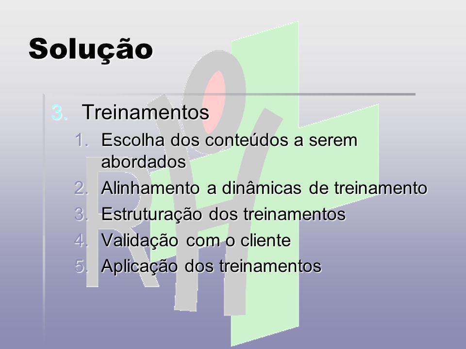 Solução 4.Qualidade de vida 1.Workshops 2.Palestras