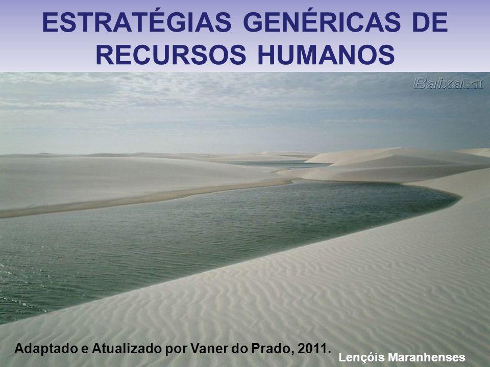 ESTRATÉGIAS GENÉRICAS DE RECURSOS HUMANOS Adaptado e Atualizado por Vaner do Prado, 2011. Lençóis Maranhenses