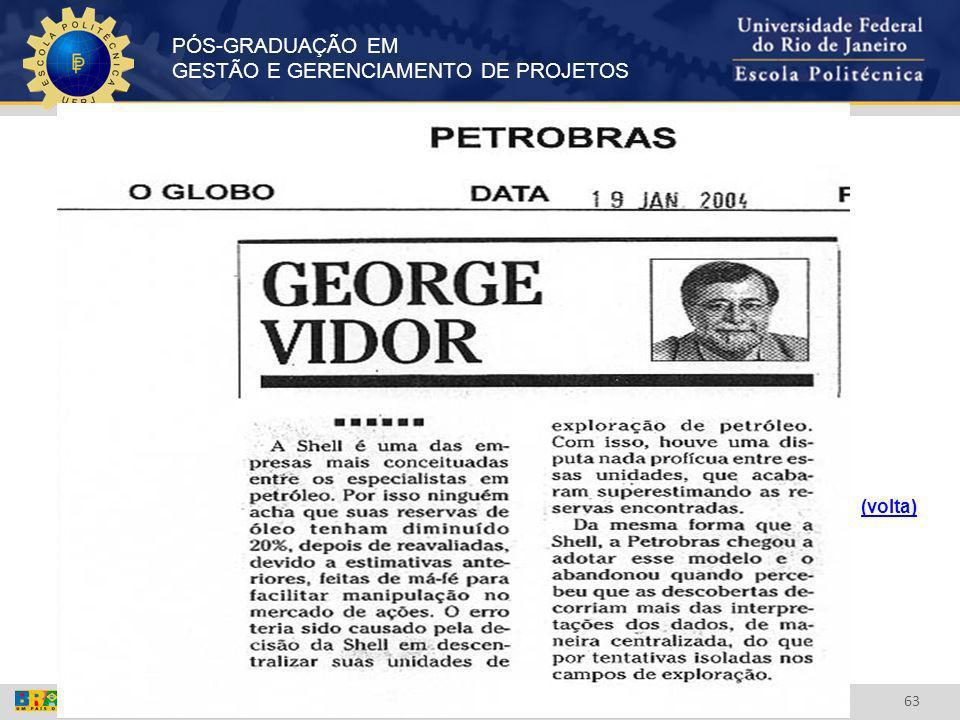 PÓS-GRADUAÇÃO EM GESTÃO E GERENCIAMENTO DE PROJETOS 63 (volta)