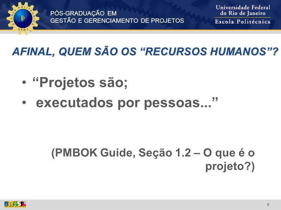 PÓS-GRADUAÇÃO EM GESTÃO E GERENCIAMENTO DE PROJETOS 19 WHAT IS A PROJECT.