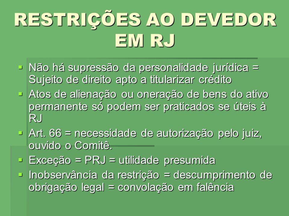 PROCEDIMENTO DA RJ FASES Postulatória ( arts.51 e 52) Postulatória ( arts.
