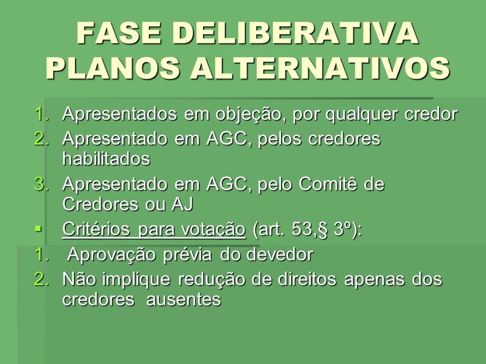 FASE DELIBERATIVA ASSEMBLÉIA GERAL DE CREDORES NA RJ Art.