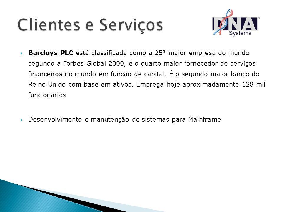 Barclays PLC está classificada como a 25ª maior empresa do mundo segundo a Forbes Global 2000, é o quarto maior fornecedor de serviços financeiros no