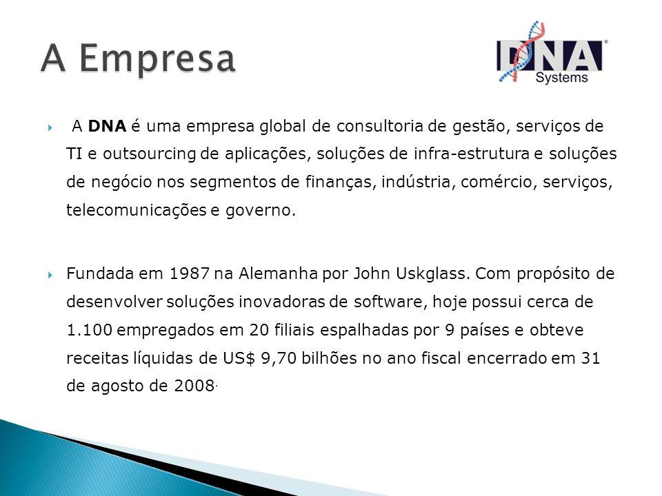 A DNA é uma empresa global de consultoria de gestão, serviços de TI e outsourcing de aplicações, soluções de infra-estrutura e soluções de negócio nos