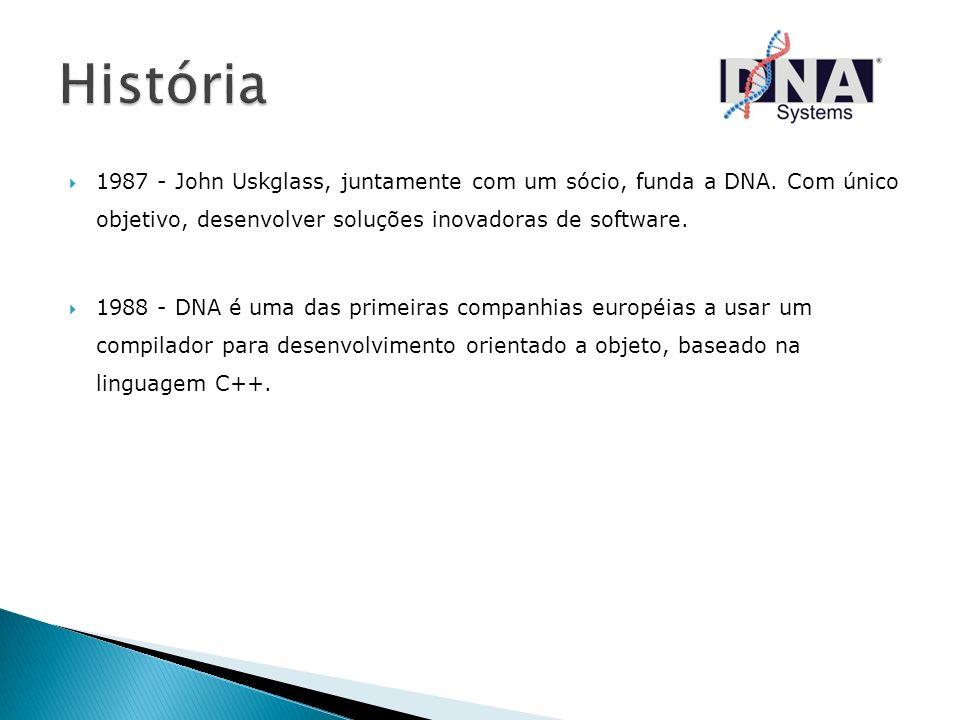 1987 - John Uskglass, juntamente com um sócio, funda a DNA. Com único objetivo, desenvolver soluções inovadoras de software. 1988 - DNA é uma das prim