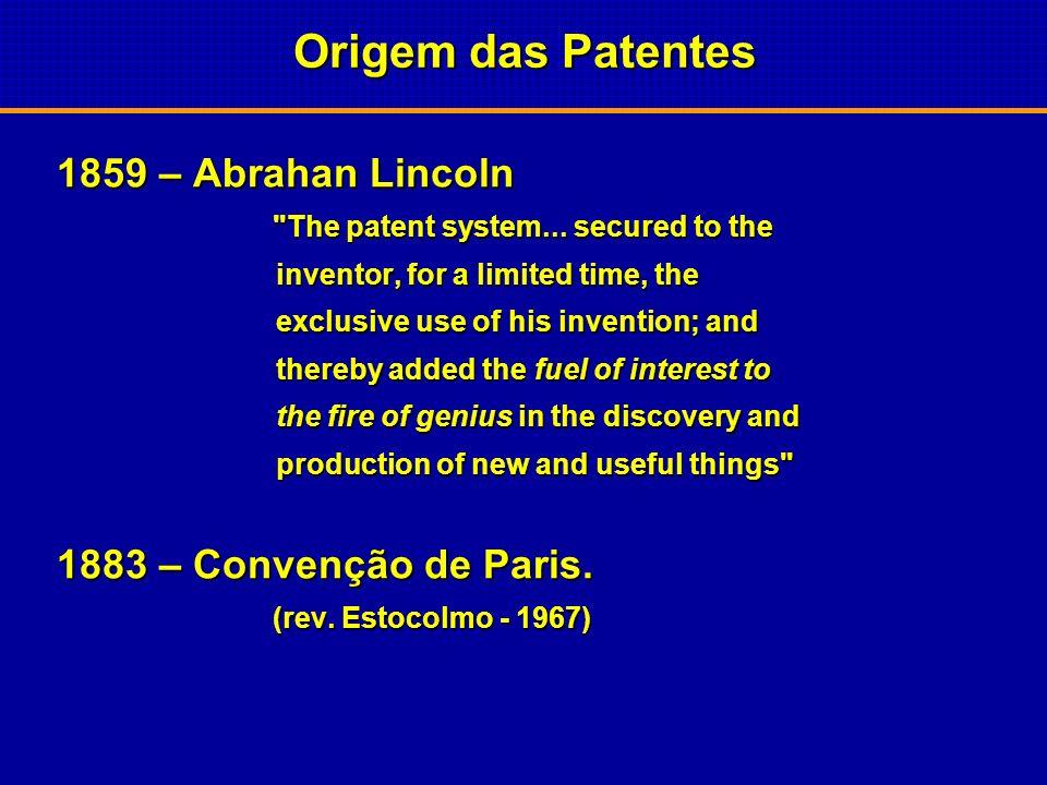 Origem das Patentes 1449 – Inglaterra – Processo de fabricação de vidro, John of Utynan, por 20 anos. vidro, John of Utynan, por 20 anos. Em troca ele