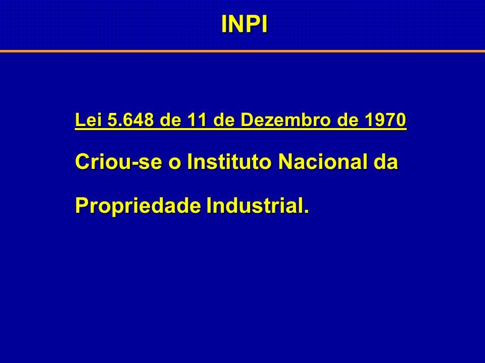 Código da Propriedade Industrial 1945 São eliminadas as concessões de São eliminadas as concessões de patentes de medicamentos no patentes de medicame