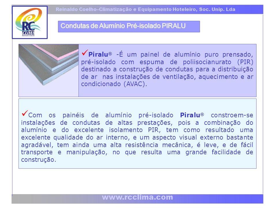 www.rcclima.com Reinaldo Coelho–Climatização e Equipamento Hoteleiro, Soc.