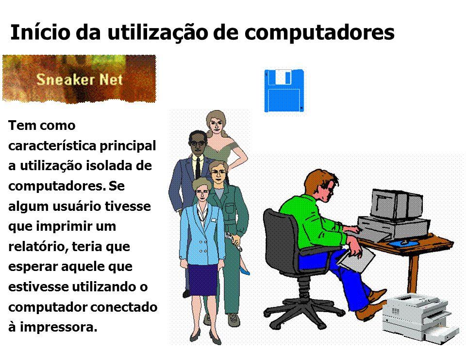 Tem como característica principal a utilização isolada de computadores. Se algum usuário tivesse que imprimir um relatório, teria que esperar aquele q