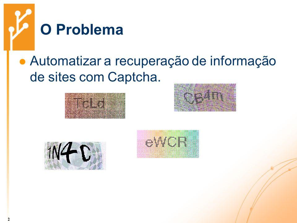 O Problema Automatizar a recuperação de informação de sites com Captcha. 2
