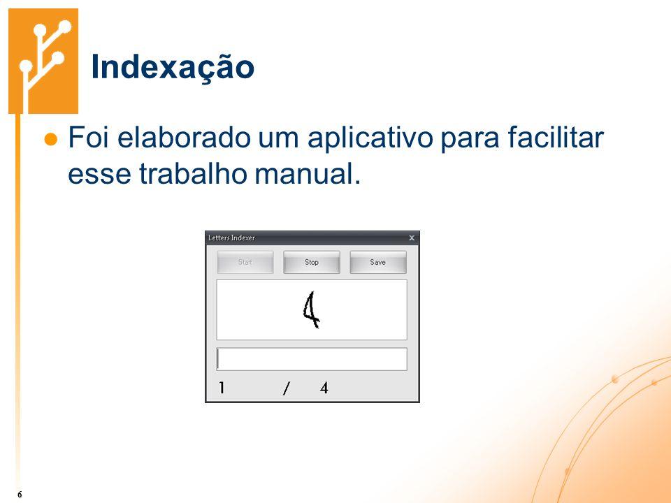 Indexação Foi elaborado um aplicativo para facilitar esse trabalho manual. 6