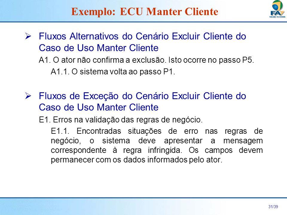 32/39 Cenário Incluir Assinatura do Caso de Uso Realizar Assinatura Exemplo com Relacionamento de Inclusão