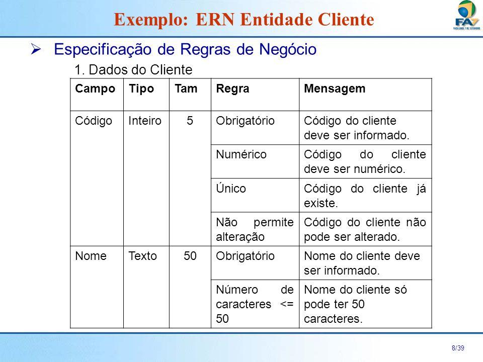 9/39 Especificação de Regras de Negócio 2.