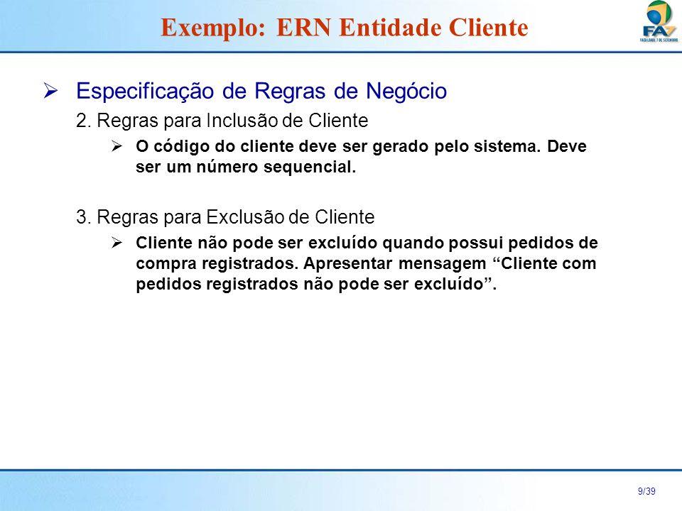10/39 Objetivo Fluxo Principal Pontos de Extensão Pós-condição Pré-condição Anatomia de uma ECU Fluxo Alternativo 1 Fluxo Alternativo n...