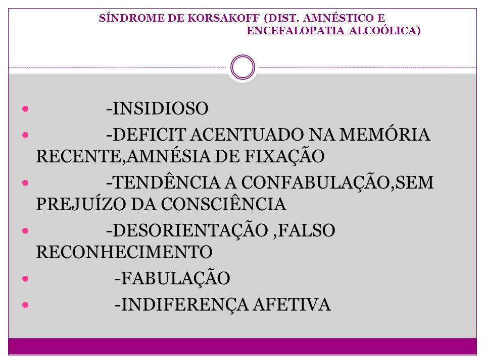 SÍNDROME DE KORSAKOFF (DIST.
