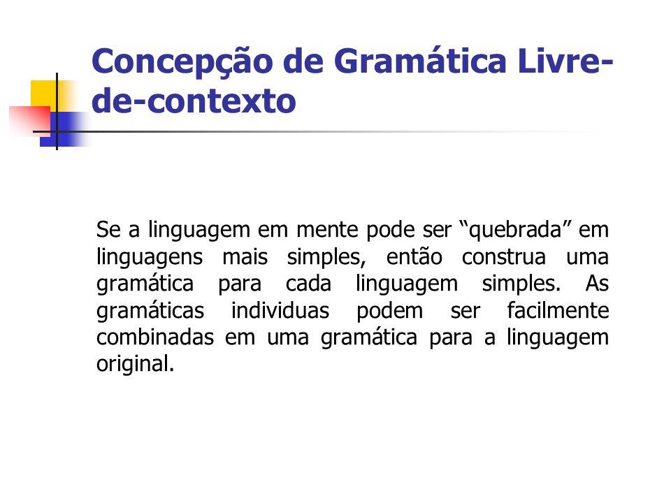 Se a linguagem em mente pode ser quebrada em linguagens mais simples, então construa uma gramática para cada linguagem simples. As gramáticas individu