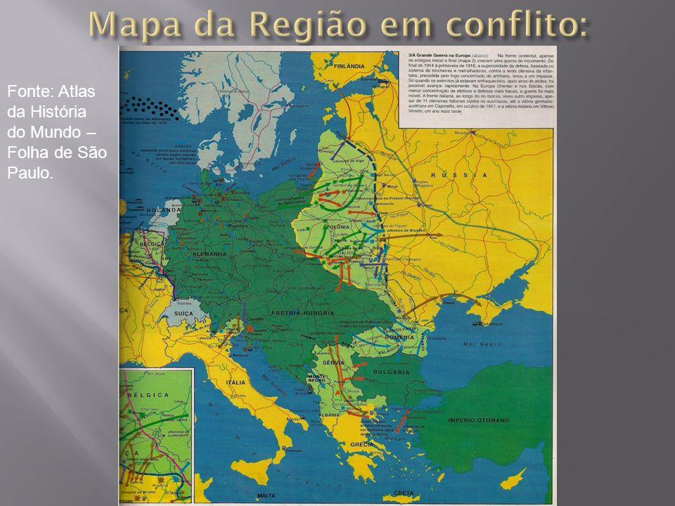 Fonte: Atlas da História do Mundo – Folha de São Paulo.