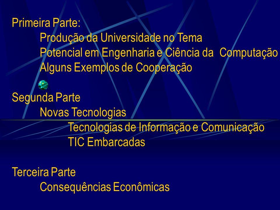 Primeira Parte: Produção da Universidade no Tema Potencial em Engenharia e Ciência da Computação Alguns Exemplos de Cooperação Segunda Parte Novas Tec