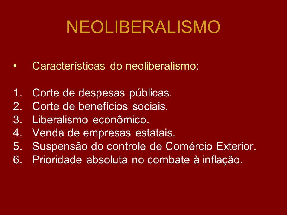 NEOLIBERALISMO Surgimento: Após a 2ª Guerra Mundial. Representou forte reação contra o Estado Intervencionista (Keynesiano) Obra principal do Neoliber