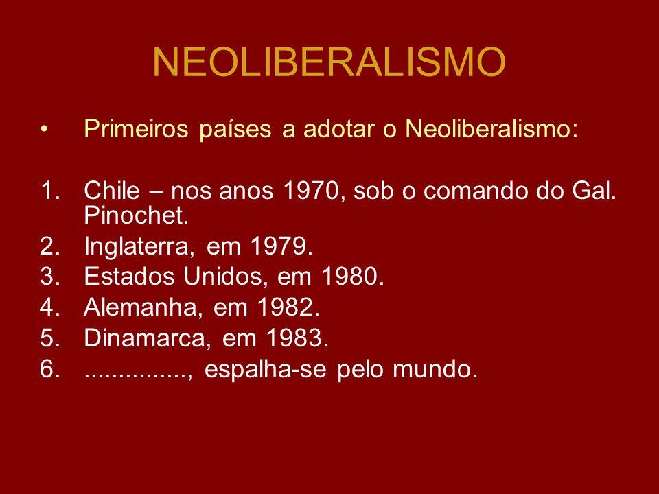 NEOLIBERALISMO As correntes neoliberais têm tentado tornar os direitos sociais mais seletivos e particulares; As propostas do NEOLIBERALISMO: oReforma