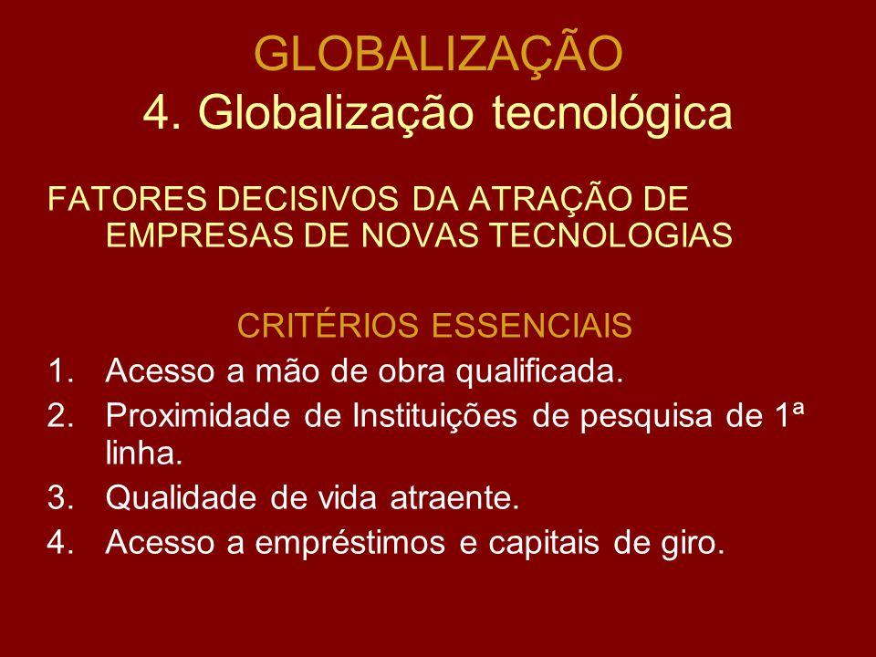 GLOBALIZAÇÃO 3. Globalização Financeira Principais crises internacionais: 1.México – dezembro de 1994. 2.Sudeste Asiático – julho de 1997, com a desva