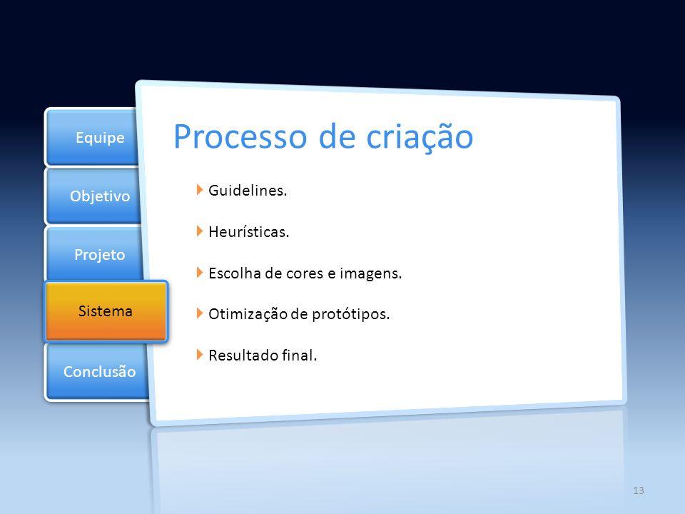 Objetivo Projeto Documentos Equipe Conclusão Sistema Tecnologias Utilizadas Linguagens: HTML (marcação de texto) XML ( representaçao de dados) CSS JavaScript (jQuery 1.6) Softwares: Photoshop Dreamweaver 14
