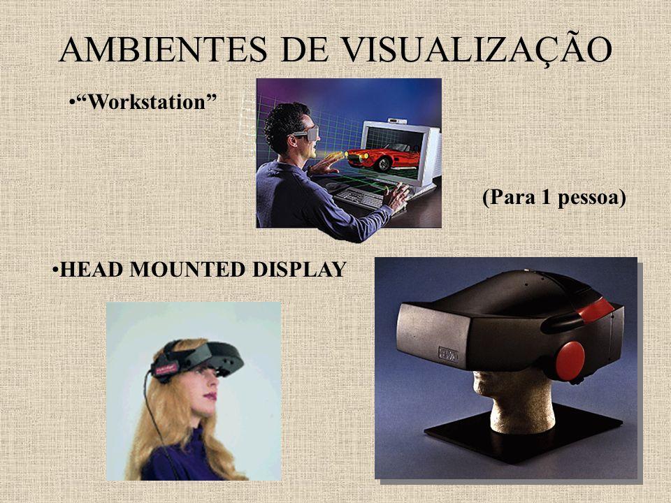 AMBIENTES DE VISUALIZAÇÃO Workstation (Para 1 pessoa) HEAD MOUNTED DISPLAY