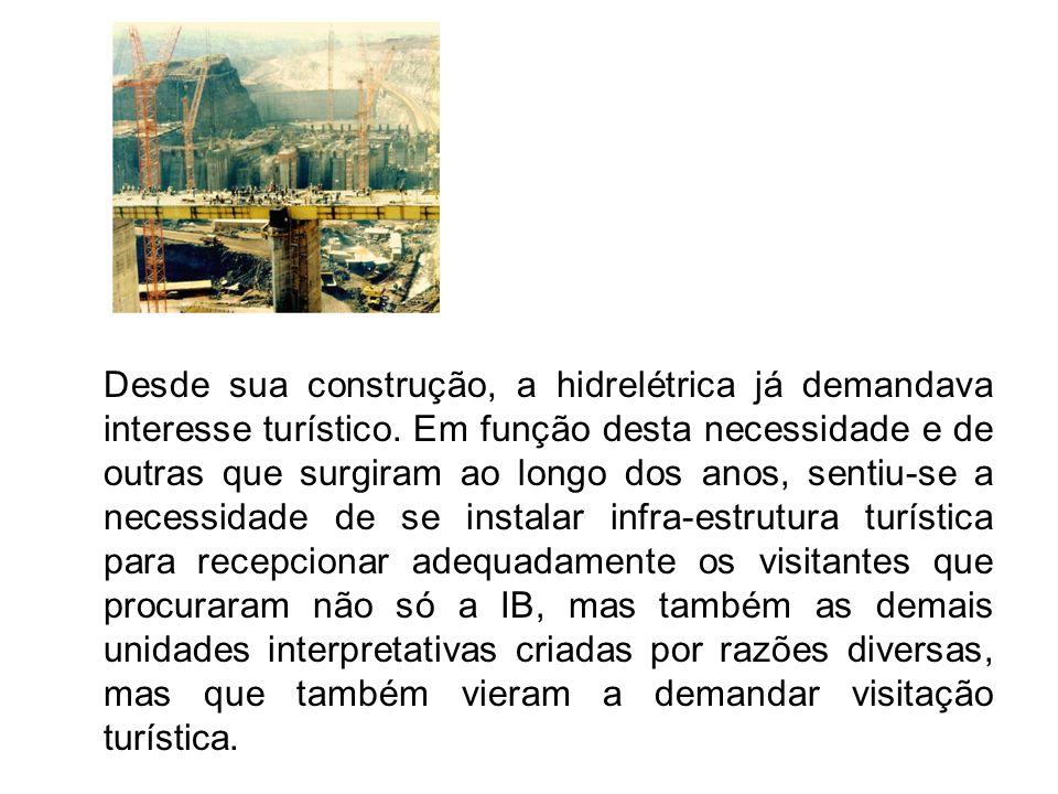 O complexo turístico da IB é composto por basicamente três as unidades interpretativas como são chamadas, que contam com diversas atividades destinadas aos visitantes: Centro de Visitantes: local tido como referência para a organização e controle dos passeios à Usina Hidrelétrica de Itaipu.