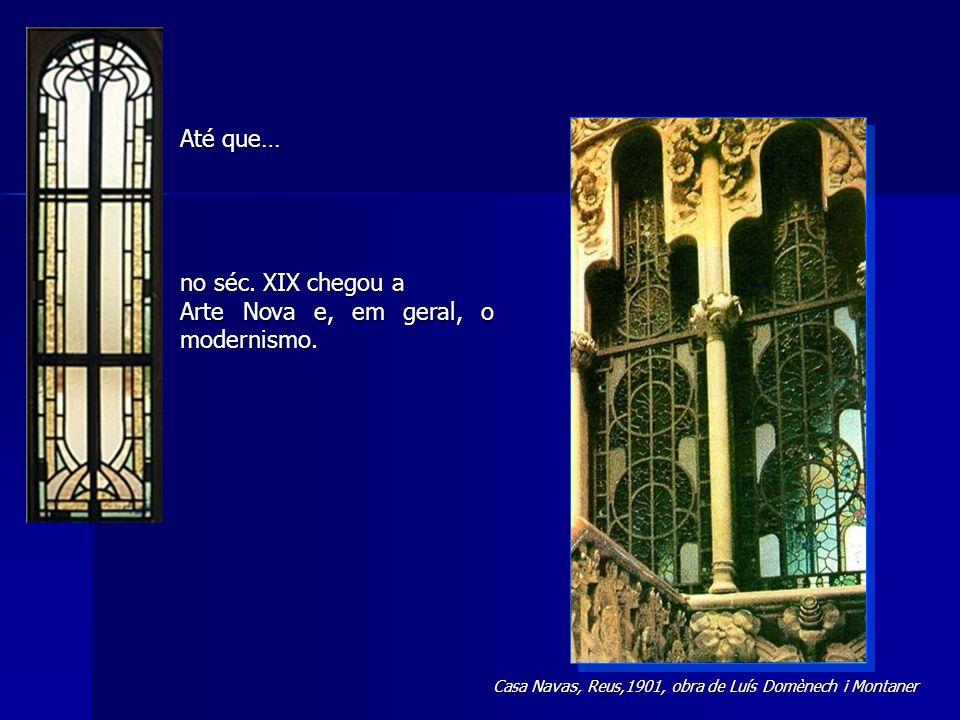 O aspecto de um vitral pintado é muito diferente visto numa posição vertical e no lugar para o qual foi feito.