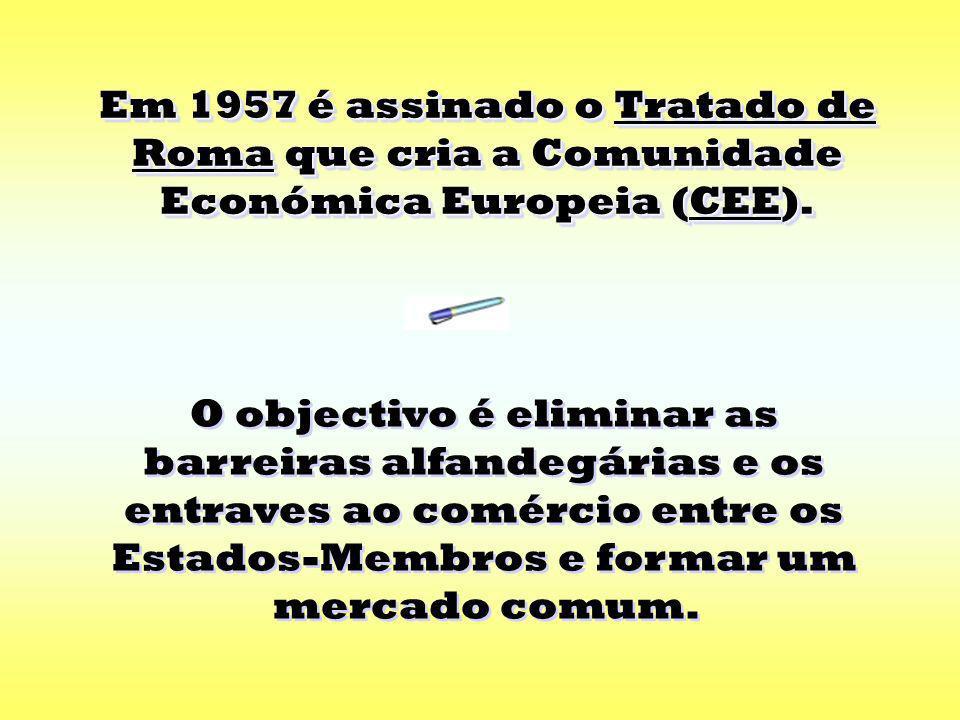 Alemanha ItáliaLuxemburgo Estes países irão posteriormente integrar a Comunidade Económica Europeia (CEE).