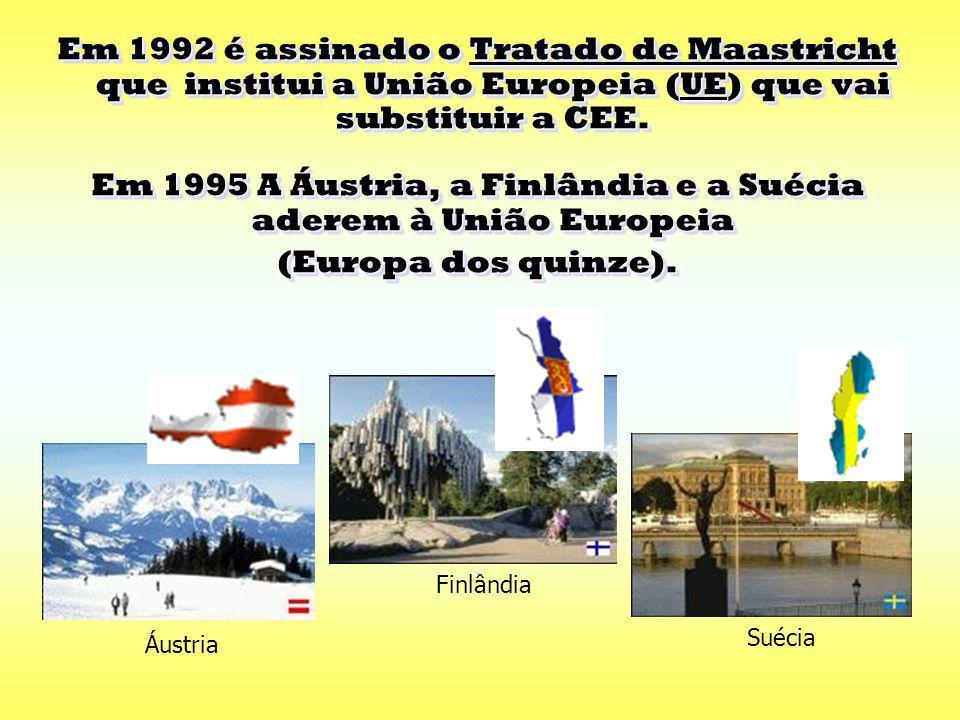 Em 1986 é a vez de Espanha e Portugal integrarem a CEE. Em 1986 é a vez de Espanha e Portugal integrarem a CEE. Espanha Portugal