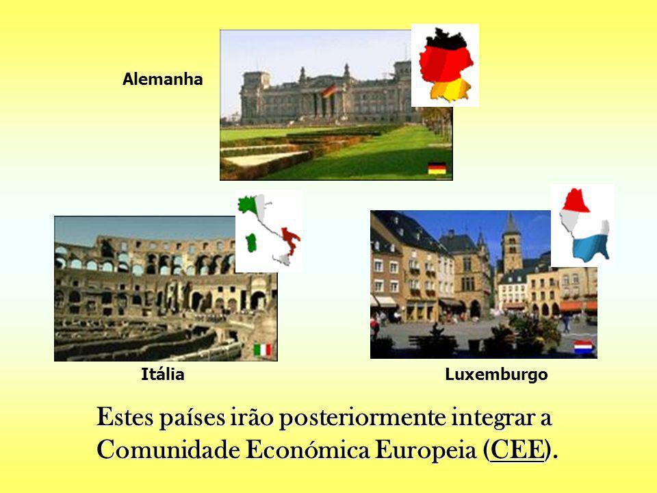 Foram seis os países que aderiram à CECA em 1951: Foram seis os países que aderiram à CECA em 1951: França Bélgica Holanda