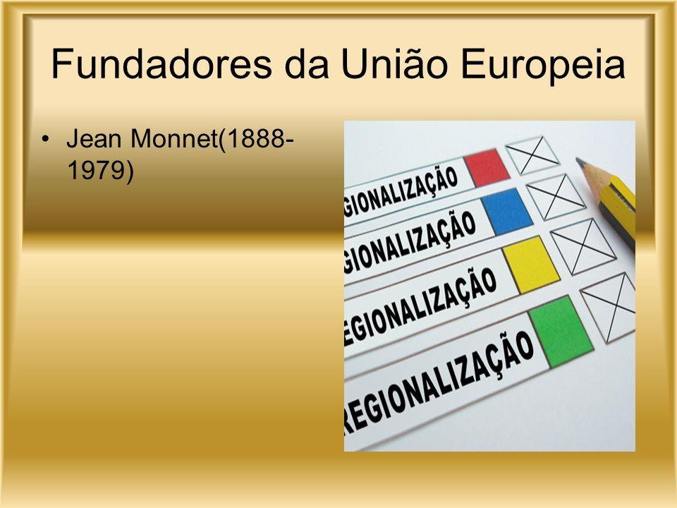 Fundadores da União Europeia Jean Monnet(1888- 1979)