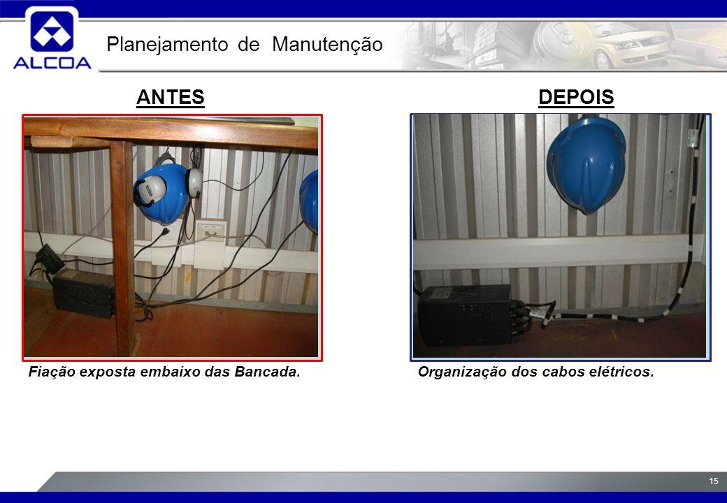 15 ANTESDEPOIS Fiação exposta embaixo das Bancada.Organização dos cabos elétricos.