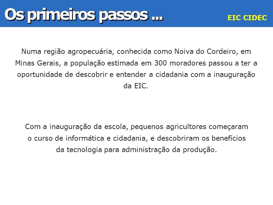 Numa região agropecuária, conhecida como Noiva do Cordeiro, em Minas Gerais, a população estimada em 300 moradores passou a ter a oportunidade de desc