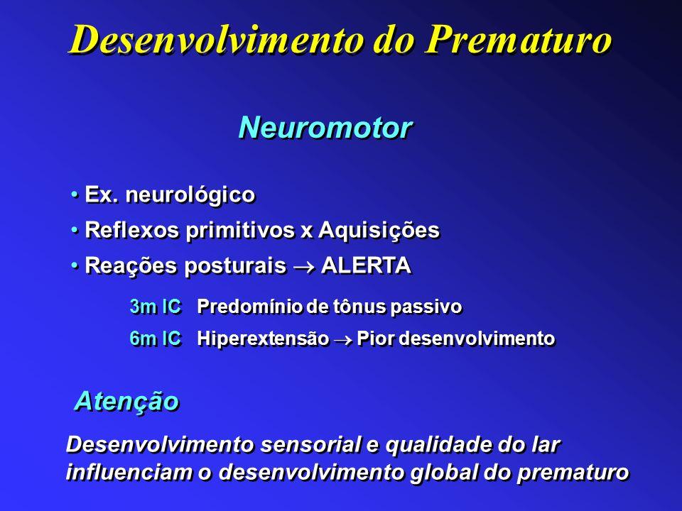 Neuromotor Ex. neurológico Reflexos primitivos x Aquisições Reações posturais ALERTA Ex. neurológico Reflexos primitivos x Aquisições Reações posturai