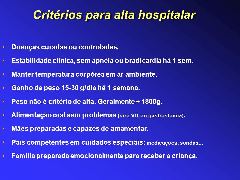 Treinamento nos cuidados básicos ao RN: alimentação, banho, medicamentos.