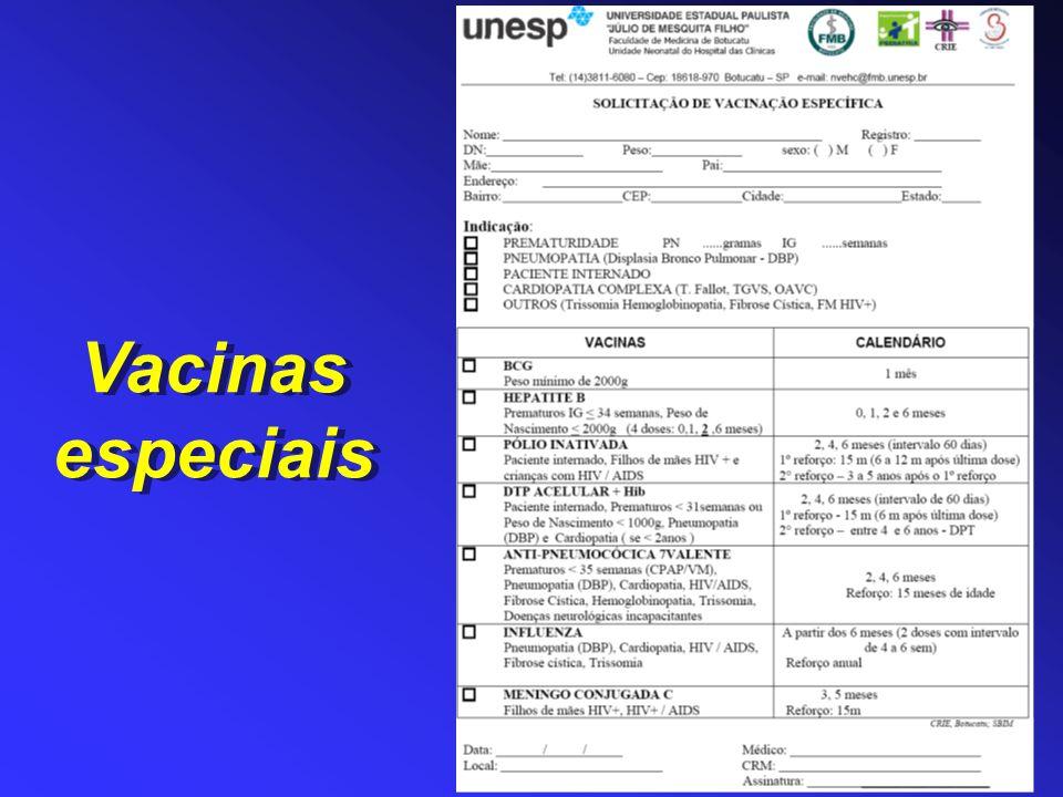 Vacinas especiais