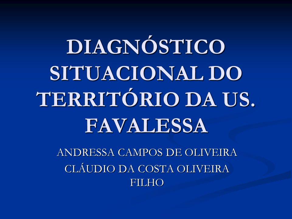 DIAGNÓSTICO SITUACIONAL DO TERRITÓRIO DA US. FAVALESSA ANDRESSA CAMPOS DE OLIVEIRA CLÁUDIO DA COSTA OLIVEIRA FILHO