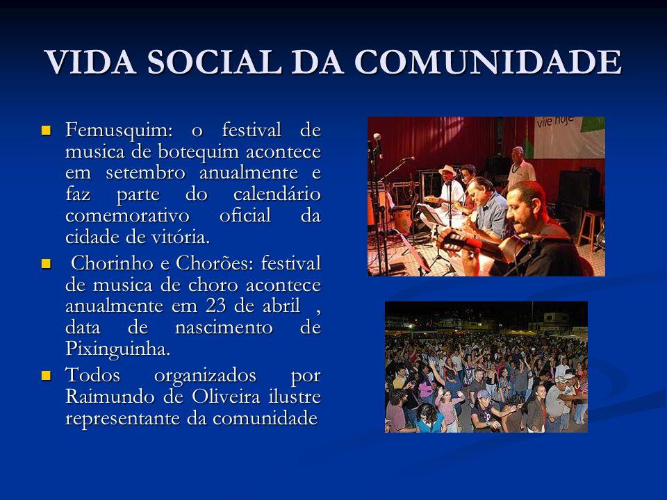 VIDA SOCIAL DA COMUNIDADE Femusquim: o festival de musica de botequim acontece em setembro anualmente e faz parte do calendário comemorativo oficial d