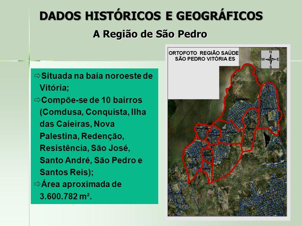 Situada na baía noroeste de Vitória; Compõe-se de 10 bairros (Comdusa, Conquista, Ilha das Caieiras, Nova Palestina, Redenção, Resistência, São José,