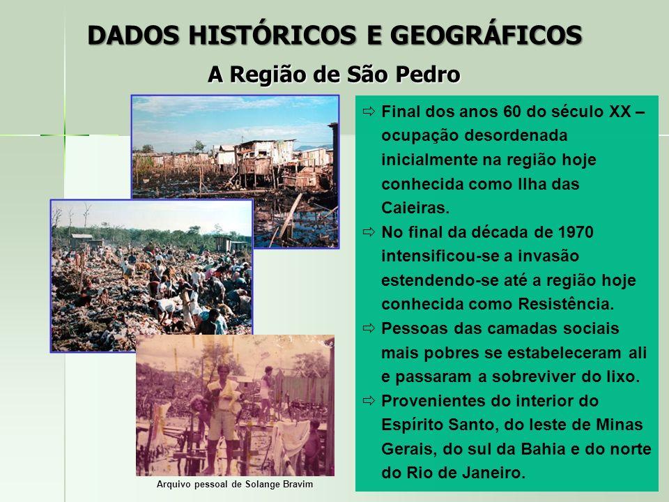 Final dos anos 60 do século XX – ocupação desordenada inicialmente na região hoje conhecida como Ilha das Caieiras. No final da década de 1970 intensi