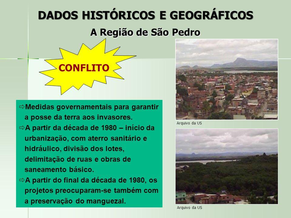 CONFLITO Medidas governamentais para garantir a posse da terra aos invasores. A partir da década de 1980 – início da urbanização, com aterro sanitário