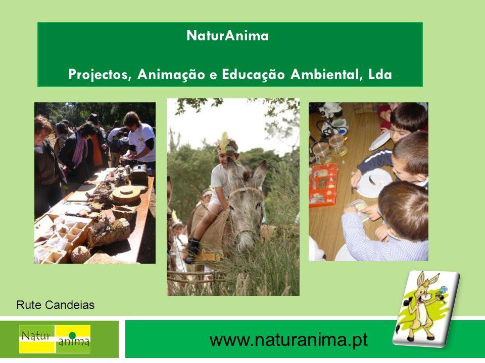 NaturAnima Projectos, Animação e Educação Ambiental, Lda www.naturanima.pt Rute Candeias