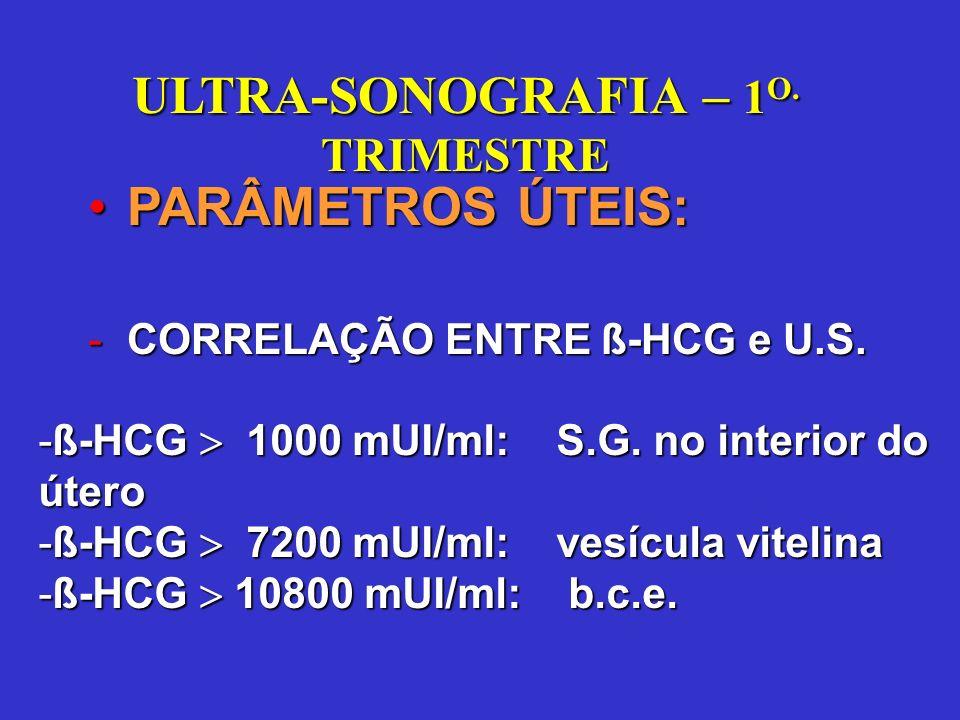 ULTRA-SONOGRAFIA – 1 O. TRIMESTRE