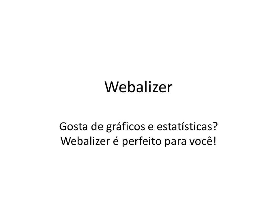 Webalizer Gosta de gráficos e estatísticas? Webalizer é perfeito para você!